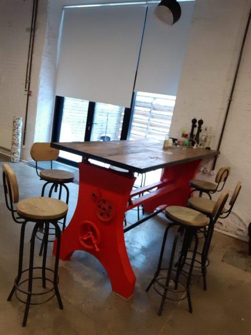 Дизайнерский авторский барный стол ручной работы.