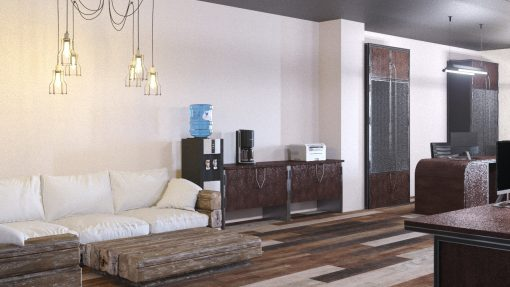 Дизайн-проект интерьера офиса в стиле лофт