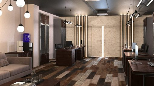 Офис в стиле лофт под ключ
