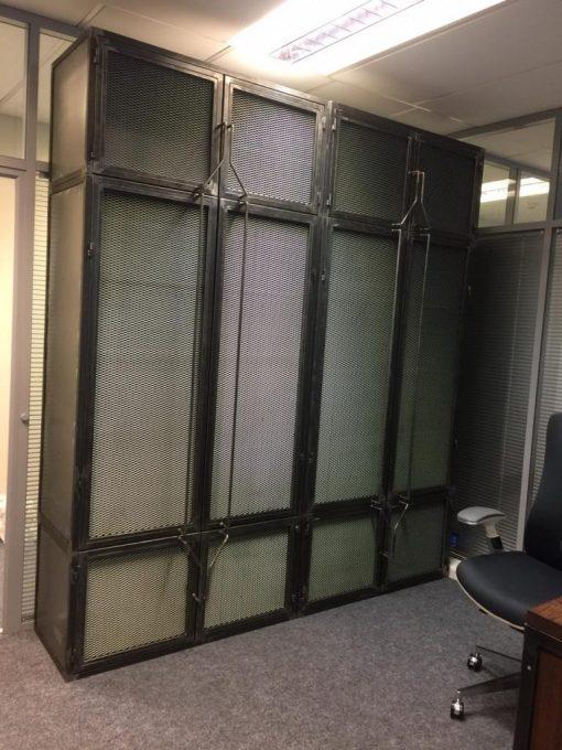 Шкаф в стиле лофт из металла.