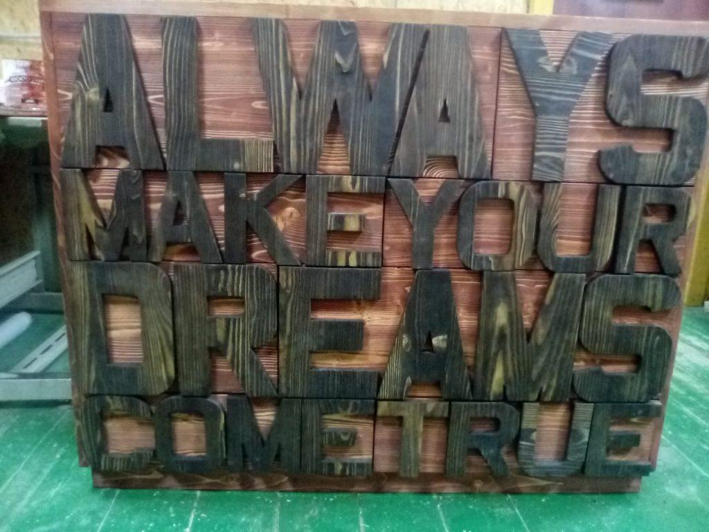 буквы комод в стиле лофт