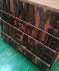 Комод  loft с буквами