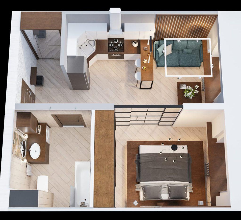 дизайн однокомнатной квартиры5