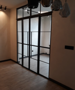 Перегородка с двумя откатными дверями