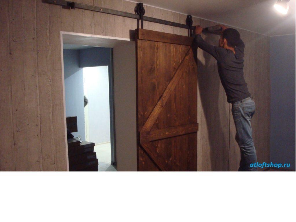 амбарная дверь лофт1