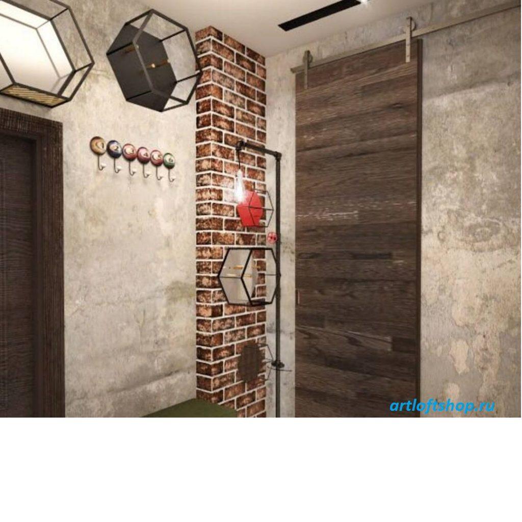 амбарная дверь лофт6