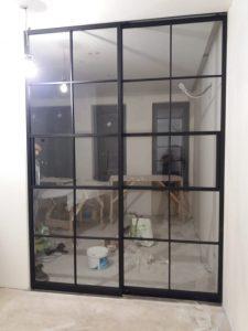 лофт перегородки с откатными дверьми