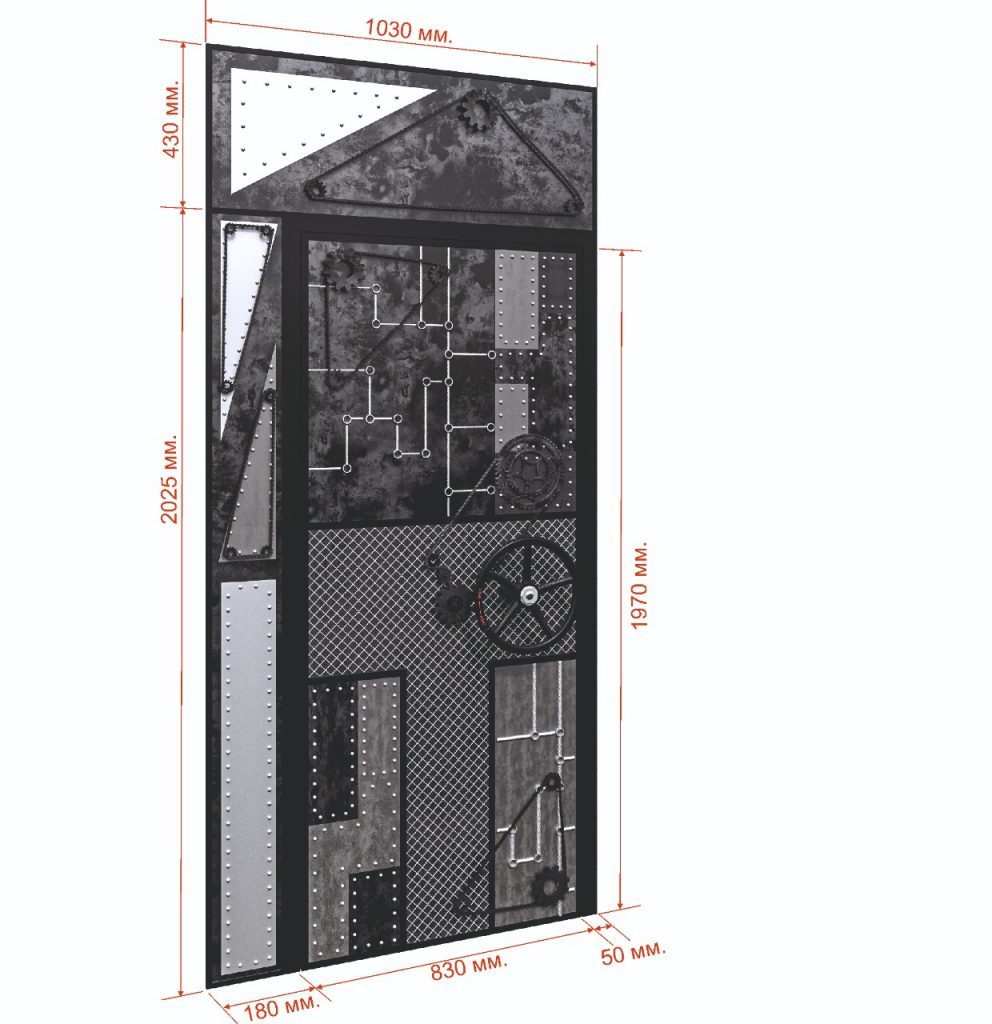 визуализация панелей на дверь