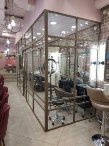 зонирующая перегородка для салона красоты