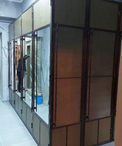 шкаф в стиле лофт в прихожую
