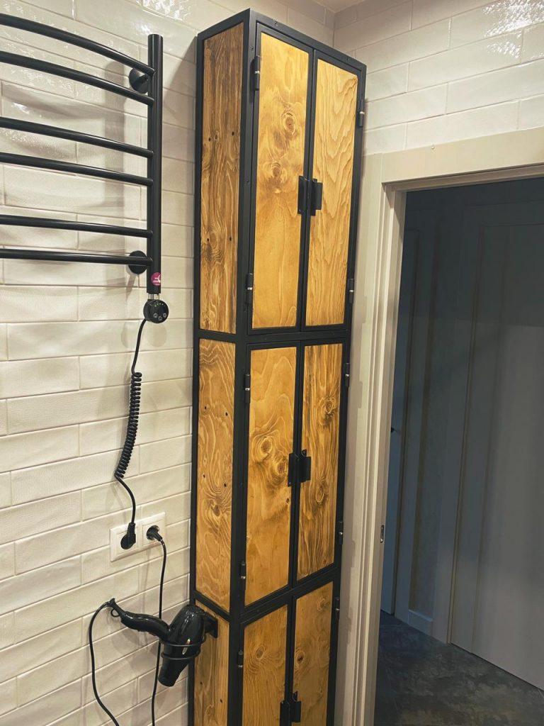 лофт шкаф в ванную